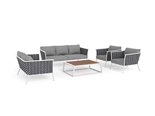 ARTELIA Ariel Aluminium Loungegruppe Loungemöbel - Luxus Gartenmöbel-Set Sitzgruppe für Garten, Terrasse und Wintergarten, Premium Terrassenmöbel