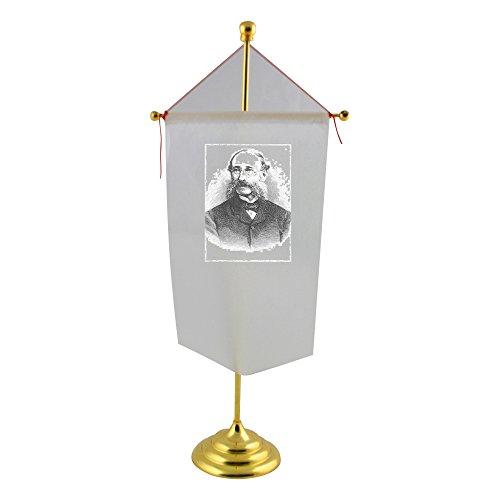 table-flag-with-portrait-of-paul-julius-reuter