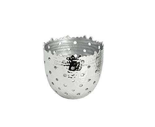 EDZARD Teelichthalter Fin, aus Aluminium, Höhe 9 cm -