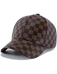 JDON-HAT, 2019 Color de PU Neutro con Gorra de béisbol de Rejilla Sombrero