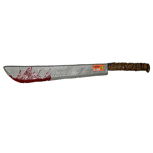 Wicked Fun Halloween Blut Machete 65 cm Waffe Messer Halloween Dekoration Bloody Party Prop