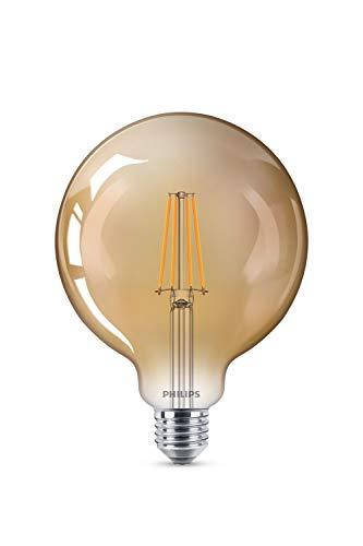Philips LEDclassic Lampe Gold, Vintage Retro-Design 8W=50W, E27, Flame(2200 Kelvin), 630 Lumen, Dekolampe, dimmbar