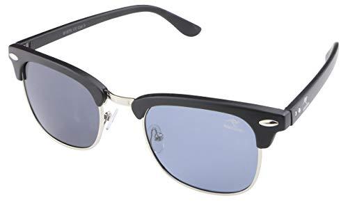 ROADSIGN Sonnenbrille Unisex UV 400 SchutzI Modell Clubmaster I Glasfarbe: schwarz