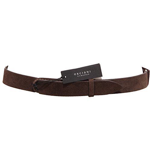3661Q cintura donna ORCIANI NOBUCKLE marrone regolabile adjustable belt woman [Taglia unica]