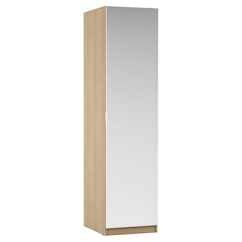house-by-john-lewis-mix-it-mirrored-single-wardrobe-natural-oak