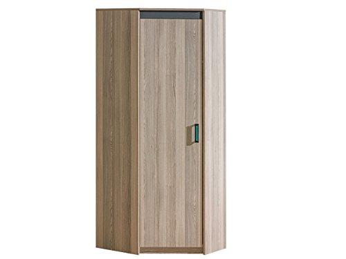 Smartbett - armadio guardaroba con sportello singolo in frassino, colore: verde scuro