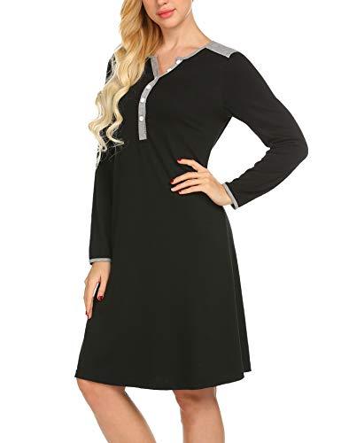 UNibelle Maternity Kleid, Damen Umstandsmode Sommerkleid Festliches Umstandskleid Schwangeren Kleider Mutterschaftskleid Nachthemd Schwangerschaft Stillkleider Schwarz - 4