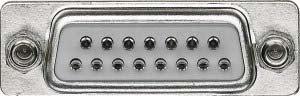 D-subminiatur-stecker (Merten 465015 D-Subminiatur-Buchsenleiste, 15-polig)