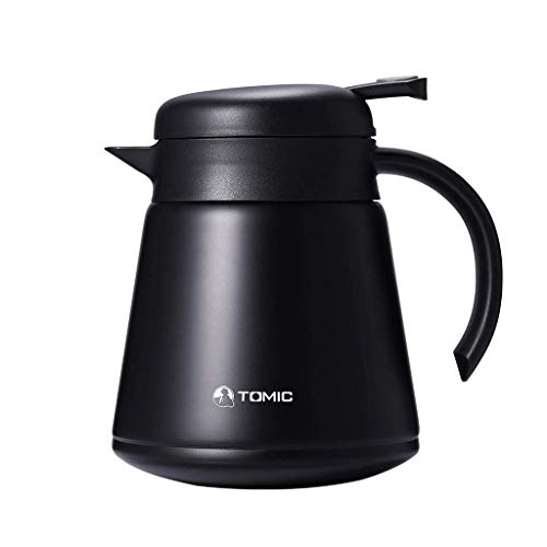 YXYH 800ml Rostfreier Stahl Thermal Kaffee Krug Doppelt Vakuum Kessel Tragbar Isolierkanne Für...