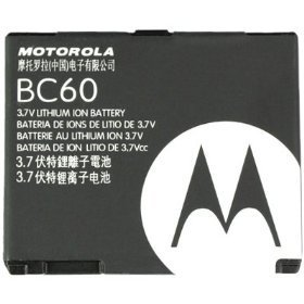 NEW MOTOROLA OEM BC60 BATTERY FOR RAZR V3X SLVR L2 L6 [Wireless Phone Accessory]