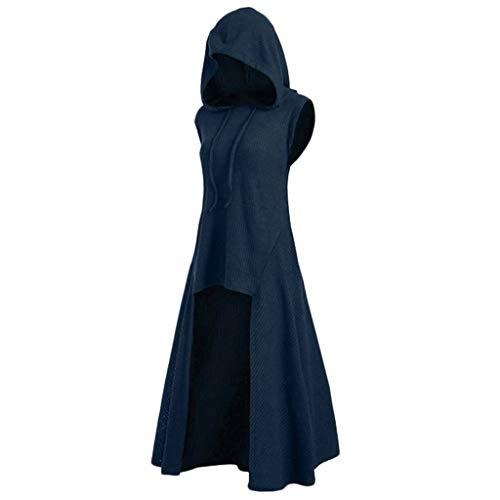Renaissance Girl Kostüm - B-commerceRetro Kleid mit Kapuze für Damen Frauen Lange Ärmel Damenkostüme Vintage Mittelalter Renaissance Halloween Party Kostüm Kleider Große Größen Lange Pullover Kleidung