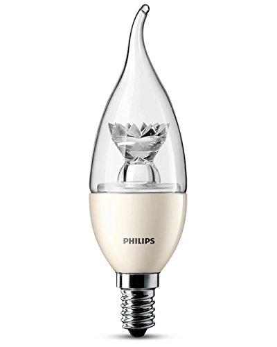 Philips Ampoule LED Flamme Coup de Vent Compatible Variateur Culot E14 35 Watts Consommés Équivalence Incandescence 25W