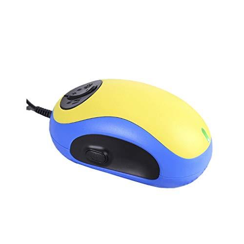 YM09 Praktisch und bequem Handheld-Maus Lupe zum Lesen von kabelgebundener Sprache 20x PC-Bildschirm Sehhilfe E-Reader Amblyopie Sehbehinderung Leselupe Gelb Blau Mini -
