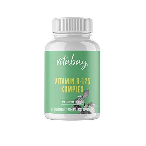 Vitamin B-125-100 Tabletten - Hochdosierter Vitamin B-Komplex - enthält alle B-Vitamine - mit PABA -