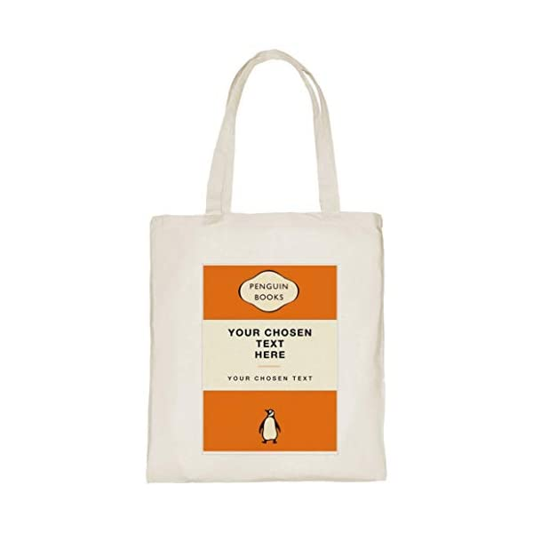 Personalise The Text On Vintage Classic Book Covers Cotton Tote Bags - handmade-bags