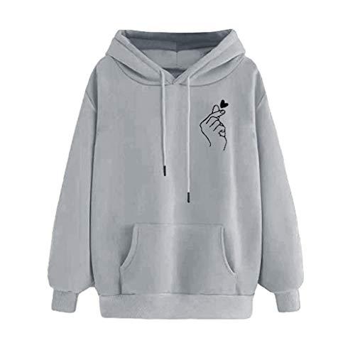 RUIRUILICO Femme Sweat-Shirt décontracté pour,Femme Imprimé à Manches Longues à Capuche décontractée Pull à Capuche