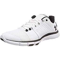 Under Armour Ua Strive 7, Zapatillas Deportivas Hombre, Blanco (White), 41 EU