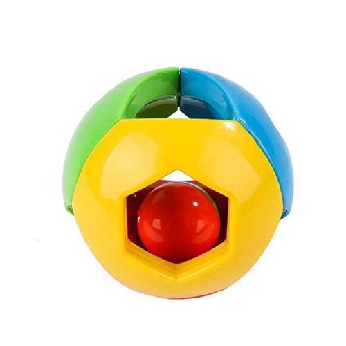 Fornateu Pet Bunte Rollen Bell Ball Spielzeug Intelligenz Ausbildung Haustier Spielen im Freien Kauen Wurf Spielzeug -
