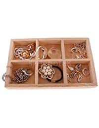Alcoa Prime 6 Grids Plain Wooden Crate Jewellery Storage Box Home Decoration Organiser