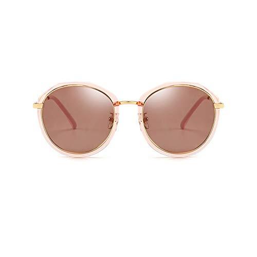 Thirteen Sonnenbrille Frauen Licht Retro Bunte Film Driving Mirror Polarisierte Round Face New Pet Design Einfache Farbe Flut Nehmen Sie EIN Einzelnes Produkt (Color : C)
