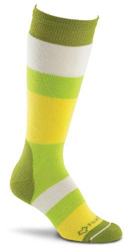 Fox River Damen Polar Streifen-Kniestrümpfe, damen, grün (Fox Socks Wool)