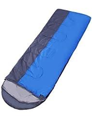 Colchoneta De Primavera, Verano, Otoño E Invierno Puede Ser Cosida Doble Camping Super Ligero Sobre Con Tapón Azul Saco De Dormir, Adulto