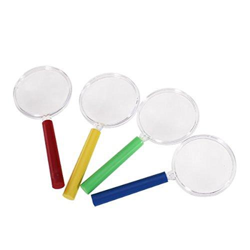 NUOLUX 4 Stück Kinder Lupe Spielzeug Vergrößerungsglas Kunststoff Set