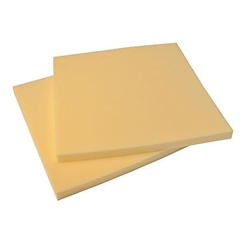 P&F GAL4533 Coussin mousse carré siège 30 kg épaisseur 3 cm, Beige, 45x45 cm, Set de 2 Pièces