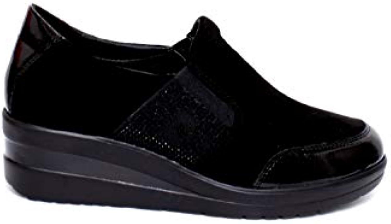 Cinzia Soft Scarpe Donna Mocassino camoscio Nero IV7371C-SS-001 | Consegna Immediata  | Uomo/Donne Scarpa
