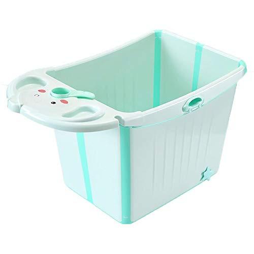 QPP-YP Faltbare Kinderbadewanne, Badewanne Für Neugeborene, Mit Regalduschsitz Und Temperaturerfassungsfunktion, Große Kinderbadewanne, Tragbare Babybadewanne,Blue -