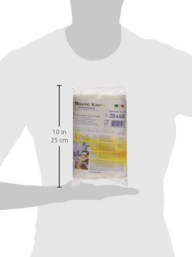 comprare on line Flaem Nuova ACO1066 Magic Vac, Rotoli per Alimenti, 2 pezzi da 20x600 cm, Trasparente prezzo