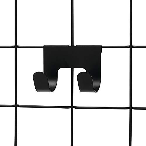 Storage-system (InterDesign Jayce Metal Double Modular Wall Grid System, Storage Hooks for Kitchen, Bathroom, Bedroom, Office, Basement, Garage, Matte Black)