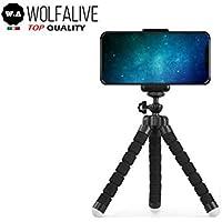 Treppiede Smartphone WolfAlive Universale per telefono e fotocamera, supporto per telefono cellulare e GoPro. Flessibile, Leggero, Snodabile, Portatile, Design di Alta qualità