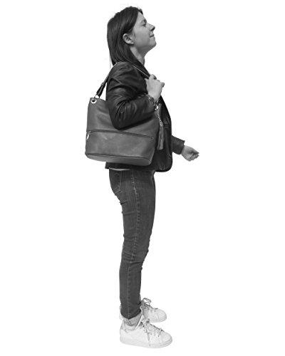 Mejor Venta Para La Venta histoireDaccessoires - Borsa Pelle Donna Portata sulla Spalla - SA094323-RO-Julia RossoRosso Comprar Barato En Línea Barato Mejores Precios De Descuento BrYyl9Al