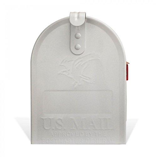 BANJADO US Mailbox | Amerikanischer Briefkasten 51x22x17cm | Letterbox Stahl weiß | mit Motiv Karl Splash, Briefkasten:mit schwarzem Standfuß - 6
