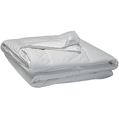 Pikolin Home Antialérgico - Relleno nórdico de fibra antialérgico, 100% percal de algodón, cuatro estaciones, dúo 125 + 250 gr/m², 220 x 240 cm, cama 150