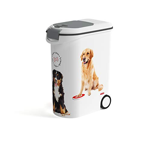Curver Love Pets Dogs Pet-Futter-Container Futtercontainer Behälter Futterbehälter Futtertonne (Hund, 20kg)
