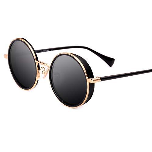 LDY Ultraleichte halbrunde polarisierte Sonnenbrille , 100% UV-Schutz - Schwarz