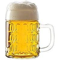Stölzle Oberglas Kaiser Bierkrug, Pintglas, 0,3 l - mit Füllstrich, Traditionelles Design, 6 Stück, spülmaschinenfest, Hochwertige Qualität