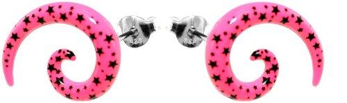 budawir-ohrstecker-aus-edelstahl-fakes-tauscher-acryl-pink-m-schw-flecken-l-15-m-ohrring