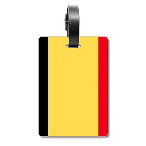 Etiqueta de identificación de la Bandera Nacional de Bélgica para Maleta de Crucero
