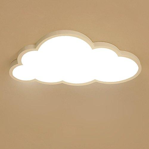 Deckenleuchte LED ultradünne 5 cm Kreative Wolken Deckenlampe Kinderzimmer Deckenleuchte Jungen Und Mädchen Schlafzimmer Lampe Einfache Cartoon Romantische Deckenlampe ( Color : Warmes Licht )