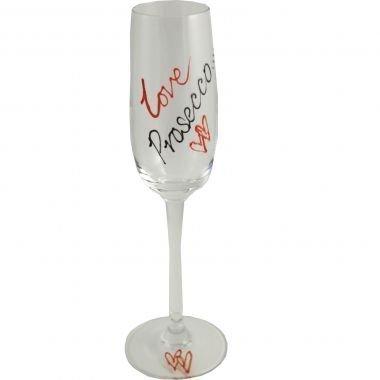 Love Verre à Champagne verre (Rouge/noir)