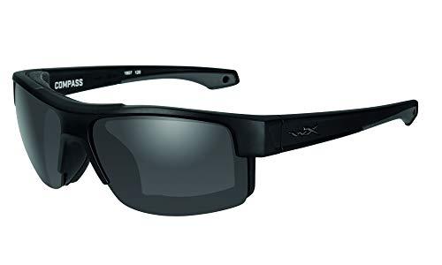 Wiley X Compass Black Ops Schutzbrille/Sonnenbrille Zertifiziert Nach En.166f (eu-Norm), matt schwarz, M-L