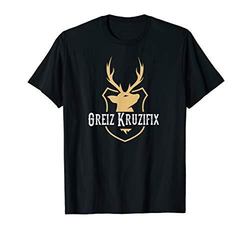 Greiz Kruzifix, Trachten, Wiesn, Oktoberfest, Bayern T-Shirt