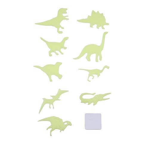 VCB 9pcs / Set DIY Fluoreszierende spielwaren Glow in Dark wandaufkleber Dinosaurier Dekoration - gelb (Glow In The Dark Spielwaren)