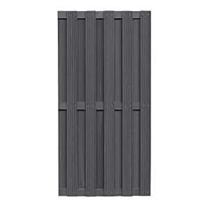 wpc zaun wpc sichtschutz anthrazit 90x180cm baumarkt. Black Bedroom Furniture Sets. Home Design Ideas