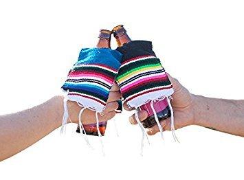Bier Poncho-Cinco De Mayo inspiriert Glas Flasche Bier Coozie --sortiert Multicolor mehrfarbig