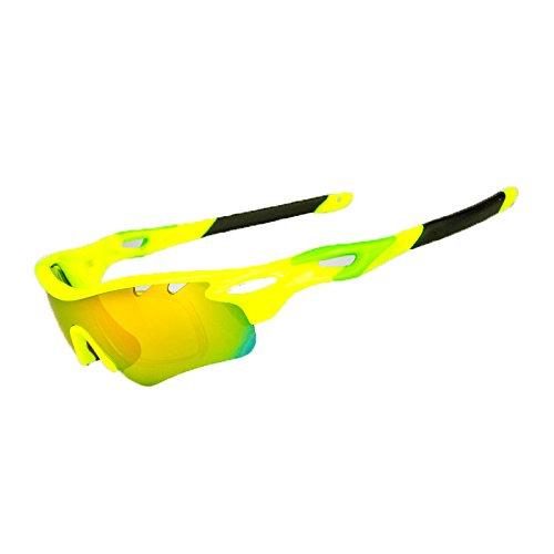 d383340685 Brown Labrador Gafas Ciclismo polarizadas con 5 Lentes Intercambiables UV  400. Gafas Deportivas, Running