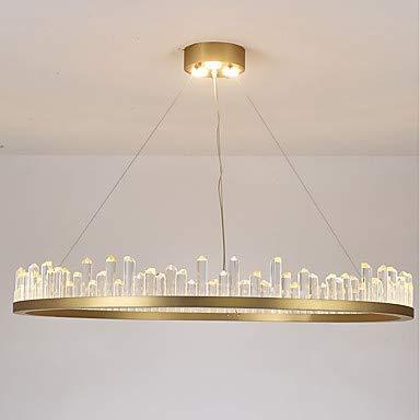 Oudan Zirkular- / Kristall- / Empire-Kronleuchter Ambient Light Painted Finishes Aluminiumkristall, Mini Style, Creative 110-120V / 220-240V Warmweiß/Weiß (Farbe : -, Größe : -) - Empire Kristall Kronleuchter